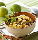 Rice with saffron, almonds and raisins (India)