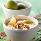Coconut soup with pork and limes (Philippines)
