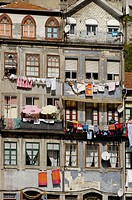 Riverside quarter of Ribeira. Porto city. Portugal.
