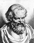 Democritus of Abdera (470-400 BC), Greek philosopher and the father of atomic theory. Democritus published works on ethics, physics, mathematics, cosm...