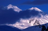 Cerro San Valentin, the highest peak of the Patagonian Andes , Northern Patagonian Ice Shield, Chile.