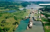 Panama canal, Miraflores docks, Panama
