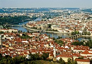 Skyline of Prague, Czech Republic from Petrin Hill
