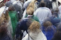 Crowd of people (blurred motion)