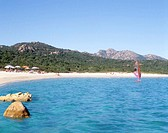 Italy, Sardinia, Costa Smeralda, Olbia, people on beach