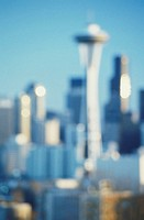 USA, Washington, Seattle, skyline (Defocussed)