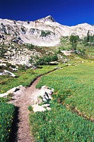 USA, Oregon, Wallowa Mountains, country path