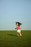 Girl Turning While Running