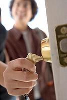 Hand unlocking door