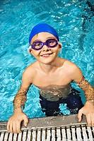 Swimmer Posing