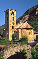 Romanesque church of Sant Cristòfol (12th century), Beget. Girona province, Catalonia, Spain