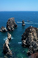 Ponta da Piedade (Mercy Point) near Lagos. Algarve, Portugal
