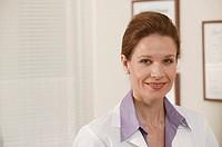 Woman doctor, portrait.