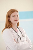 Woman doctor, portrait.