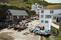 Portloe Harbour Cornwall UK