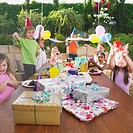 Child´s birthday party outdoors