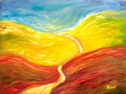 'Road Ahead' Oil on canvas. 2003. Private collection