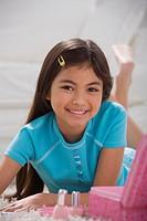 Young Hispanic girl with makeup