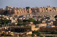 Jaisalmer desert town. Rajasthan, India
