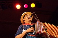Singer and accordionist Joaquin Diaz