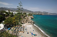 Calahonda beach, Nerja. Axarqu&#237;a, Costa del Sol, M&#225;laga province. Andalusia, Spain