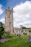 Saint Pancras Church Widdecombe in the Moor Dartmoor National Park Devon Great Britain