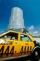Government Tower and cab. City of Miami. Florida. USA