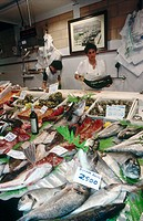 Fish shop, San Sebastián. Guipúzcoa, Euskadi, Spain