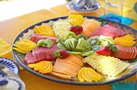 Fresh fruit on plate