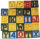 wooden alphabet and numbers blocks