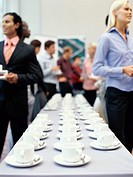 business executives at a coffee break