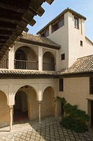 Courtyard of the Daralhorra Palace. Albayzín, Granada. Andalusia, Spain