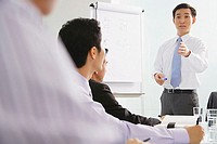 Businessman talking to other executives in a meeting