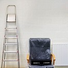 View of office chair and step ladder