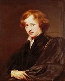Ü Kunst, Dyck, Sir Anthonis van (1599 - 1641), Gemälde ´Jugendliches Selbstbildnis´, 1621/22, Öl auf Leinwand, Alte Pinakothek, München niederl, fläm....