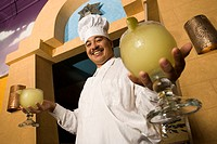 Chef holding margarita glasses (thumbnail)