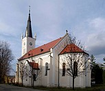 The church in Ostrozska Lhota, Moravia, Czech republic