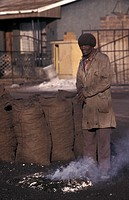 AN AFRICAN SCENE<BR>Photo essay for press only.<BR>Coal man in Soweto.