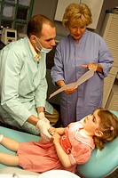 CHILD RECEIVING DENTAL CARE<BR>Models.