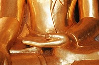 Golden Buddha statue, Bagan, Burma