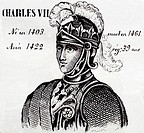 Charles VII, king of France from 1422 to 1461. History of France, by  J.Henry (Paris, 1842)