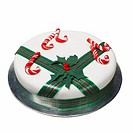 Close up of a Christmas cake