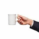 Close-up of woman´s hand holding mug