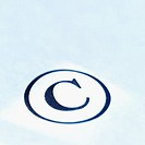 Close-up of copyright symbol