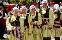 Children with traditional dress. Edirne,Turkey.