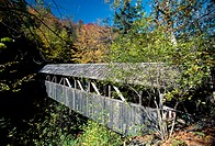 White Mountains. The Flume, the Pine Sentinel Bridge. USA.
