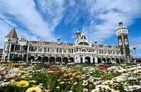 Dunedin railway station, built 1906. New Zealand