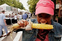 Virginia, Portsmouth, High Street, Gosport Arts Festival, Black female, corn on cob,