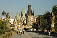 The Charles Bridge in Prague. Czech Republic. 2006