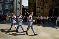 Changing of the guards at Prague Castle. Czech Republic. 2006